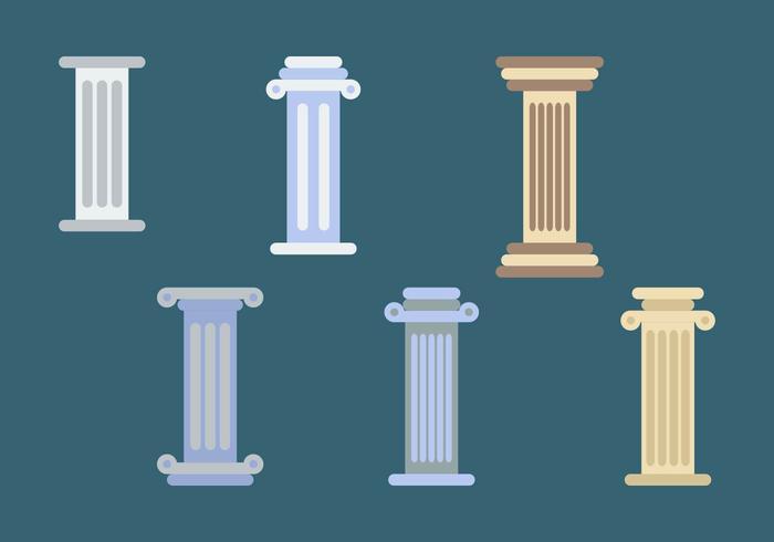 Romeinse Pijlers Illustraties vector
