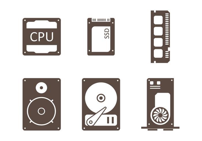 CPU Minimalistisch Pictogram vector