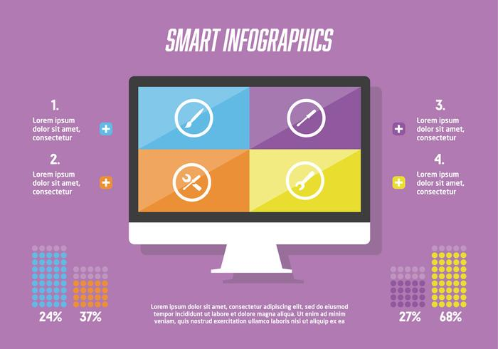 Gratis Infografische Elementen Vector Achtergrond