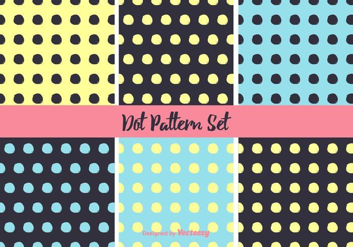 Eenvoudige Neon Dot Pattern Vector Set
