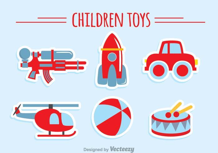 Kinder Speelgoed Collectie vector