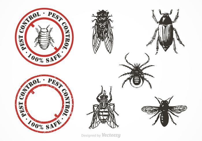 Gratis Pest Control Vector Set