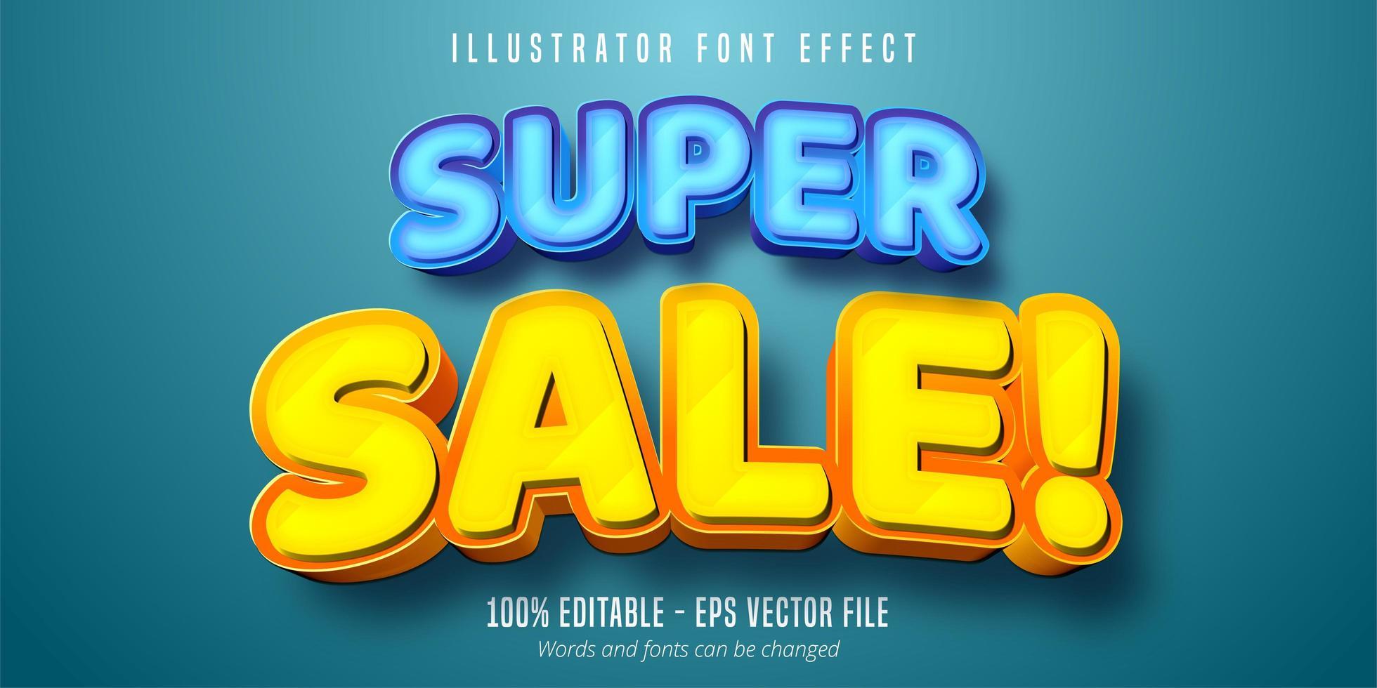 super verkoop vet lettertype vector