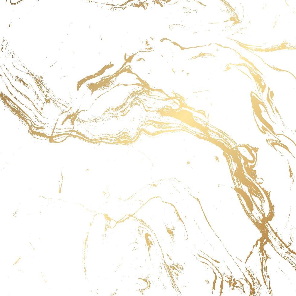 marmeren textuurachtergrond in goud en wit vector