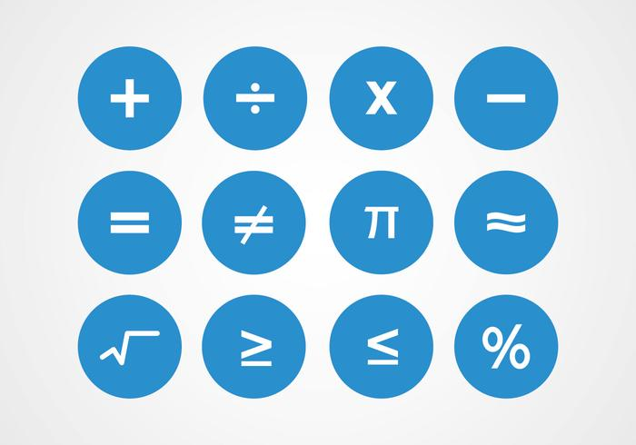 Math Symbolen Vectoren