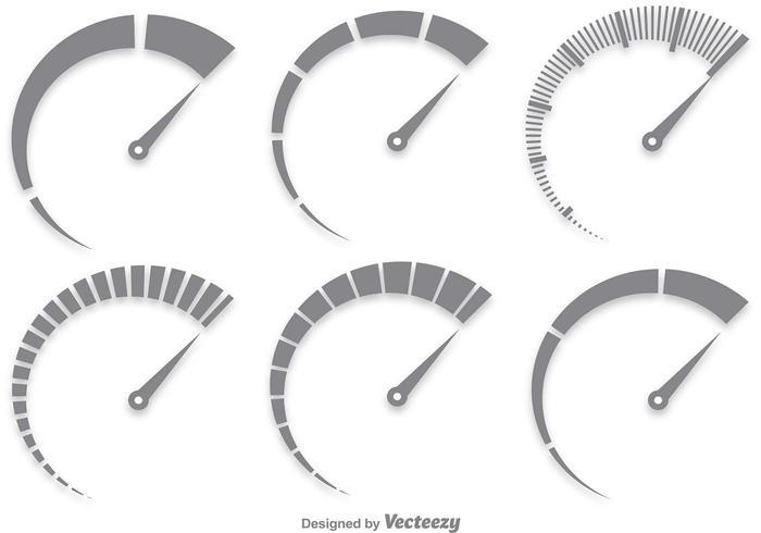 Grijze Tachometer Vector Set