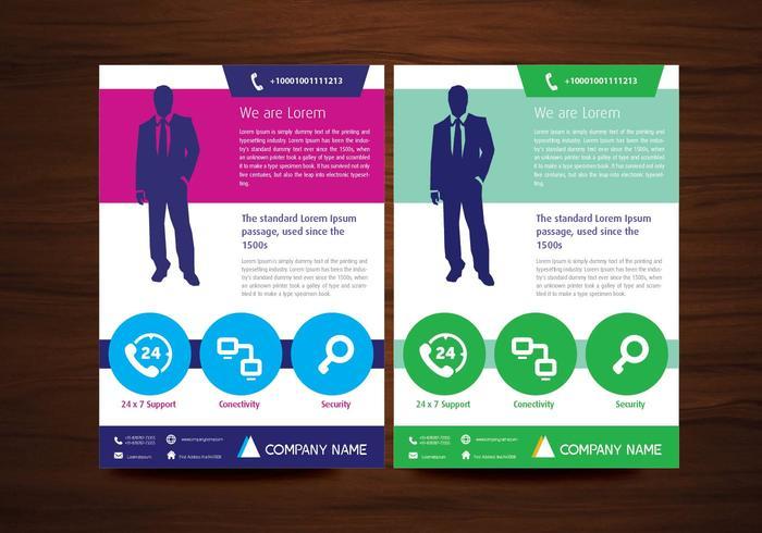 Vector Brochure Flyer Design Layout Sjabloon in A4 formaat
