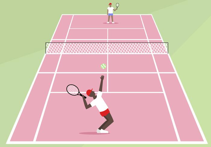 Gratis Tennisbaan Vector