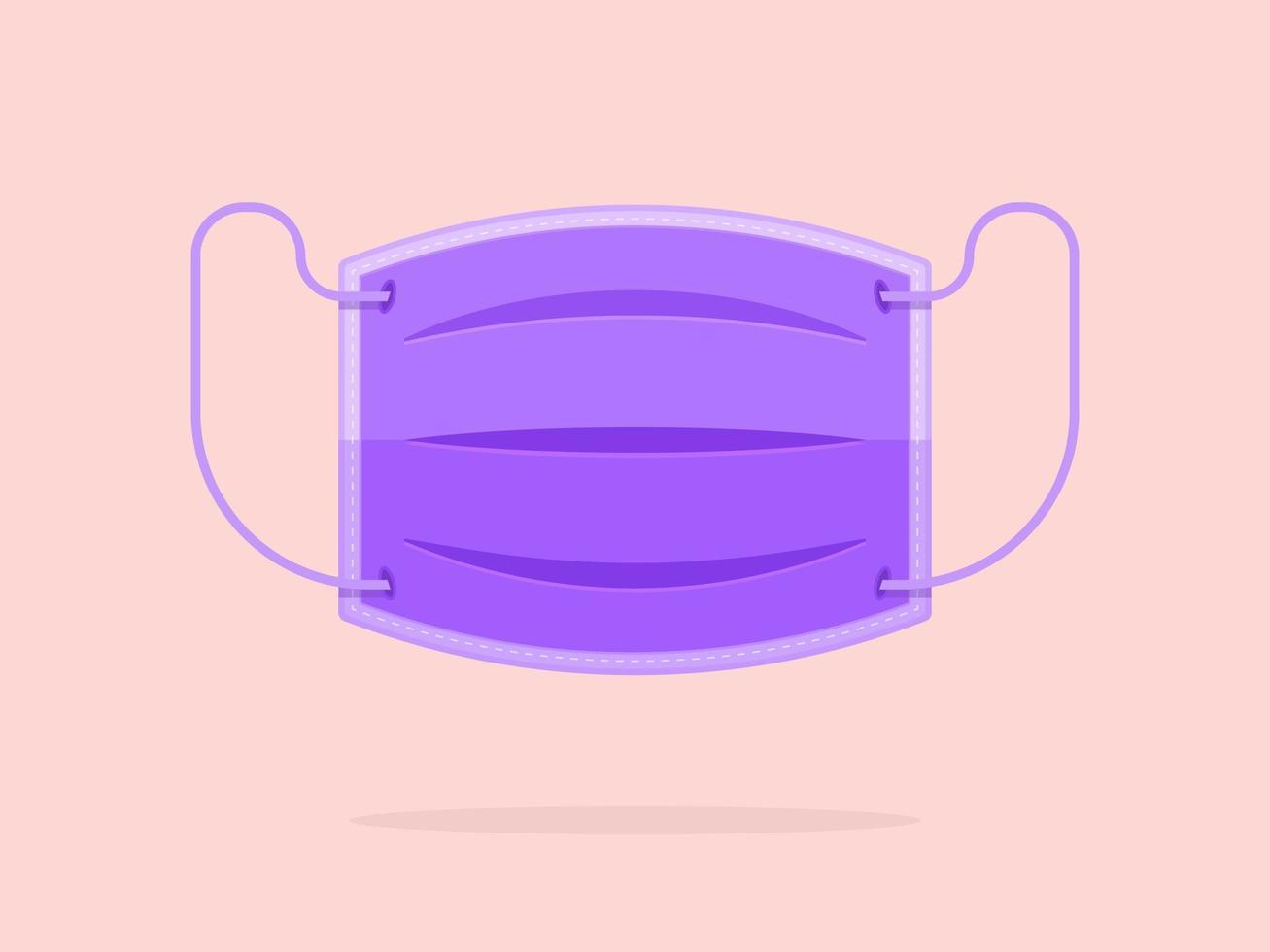 lila wegwerp medisch gezichtsmasker vector
