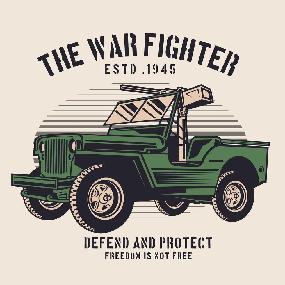 groen militair oorlogsvoertuig vector