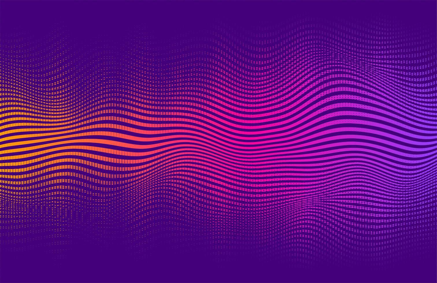 golvende halftoon stijl levendige verloop ontwerp vector
