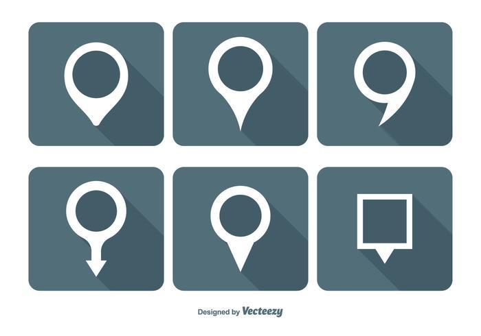 Kaart Pin Vector Icon Set