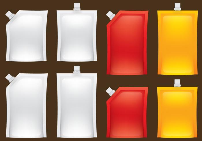 Vloeibare voedselverpakkingen vector