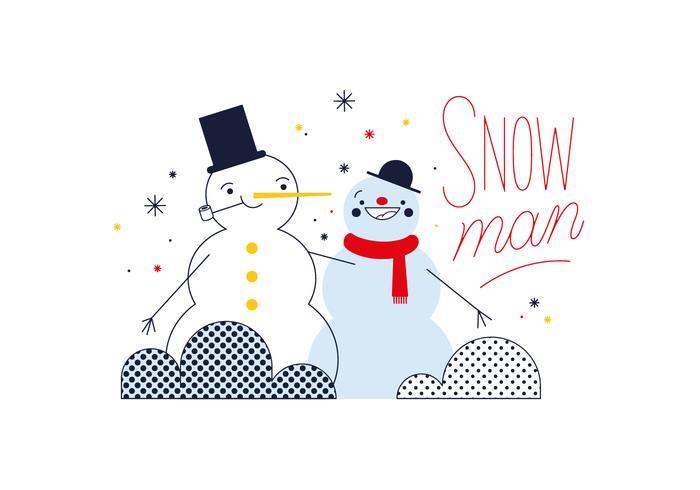 Gratis Sneeuwman Vector