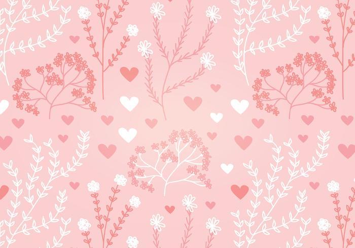 Floral Heart Vector Naadloos Patroon