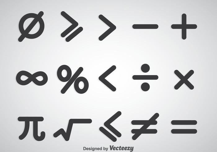 Wiskundige symbolen vector sets