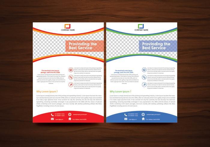 Vector brochure foldersjabloon vector