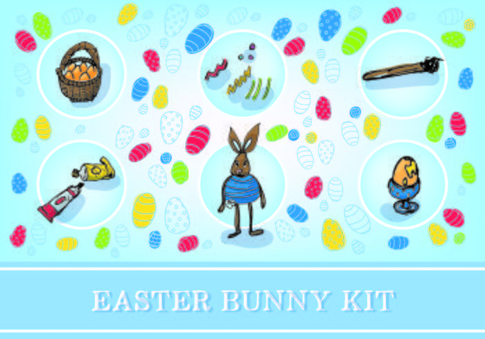 Pasen Gratis Bunny Kit Vector