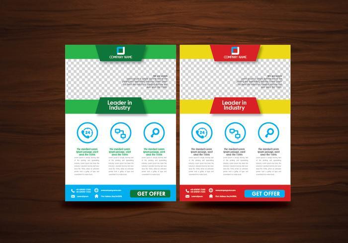 Vector Brochure Flyer Ontwerp Lay-out Sjabloon Vector