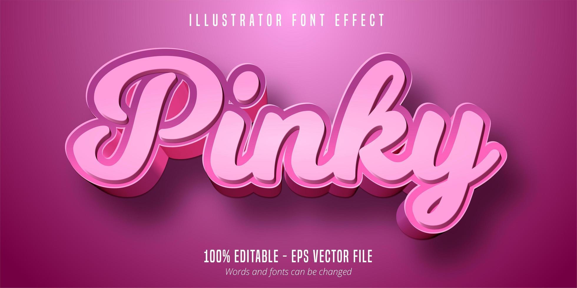pink tekst, 3d bewerkbaar lettertype-effect vector