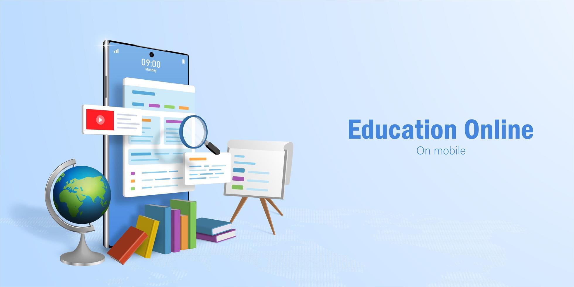onderwijs online concept vector