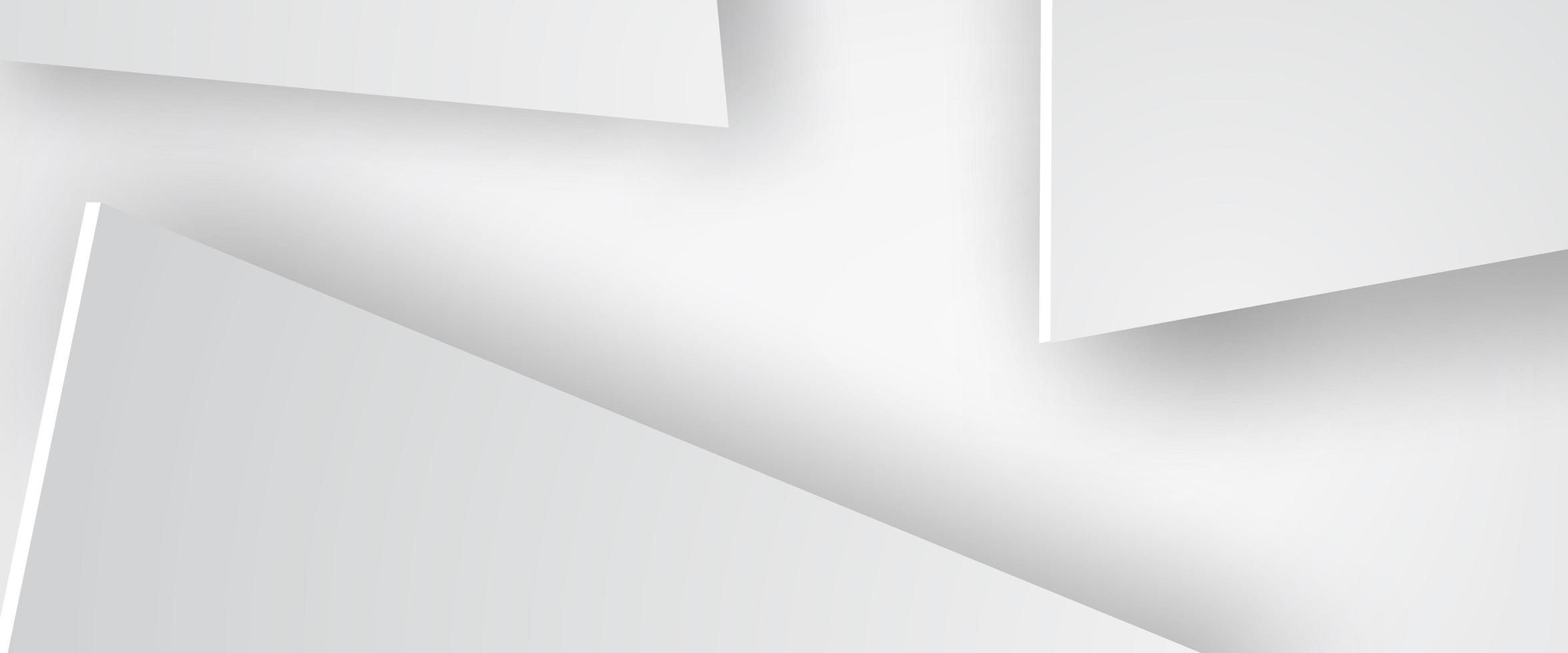 papier kunst van driehoek witte achtergrond vector