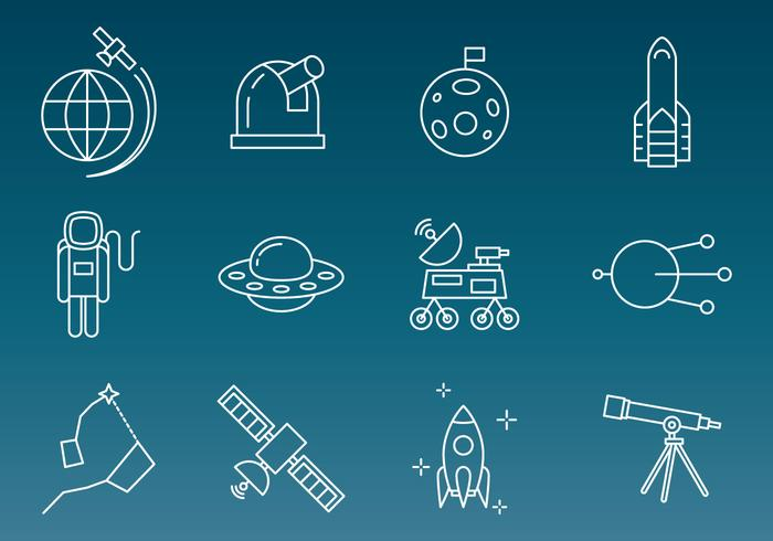 Space Technology Vector Pictogrammen