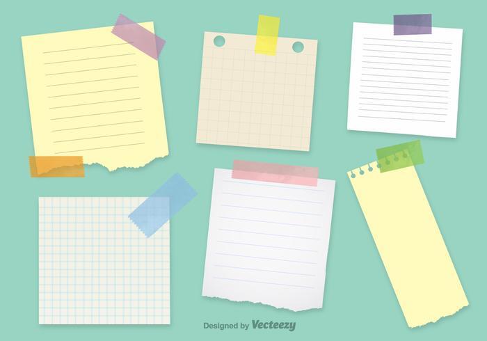 Office Notepaper Vector Sjablonen
