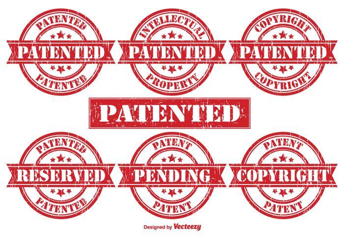 Patent Vector Rubber Postzegels