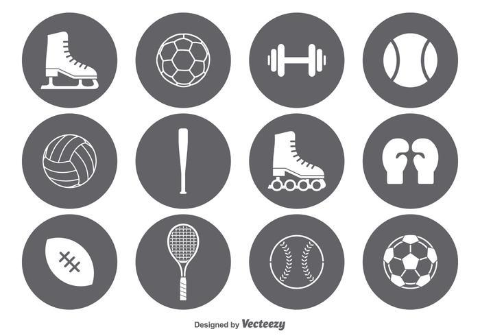 Vector sport pictogram set