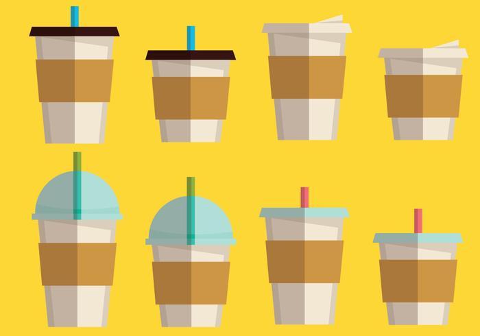 Koffie Mouw En Koffie Drank Set vector
