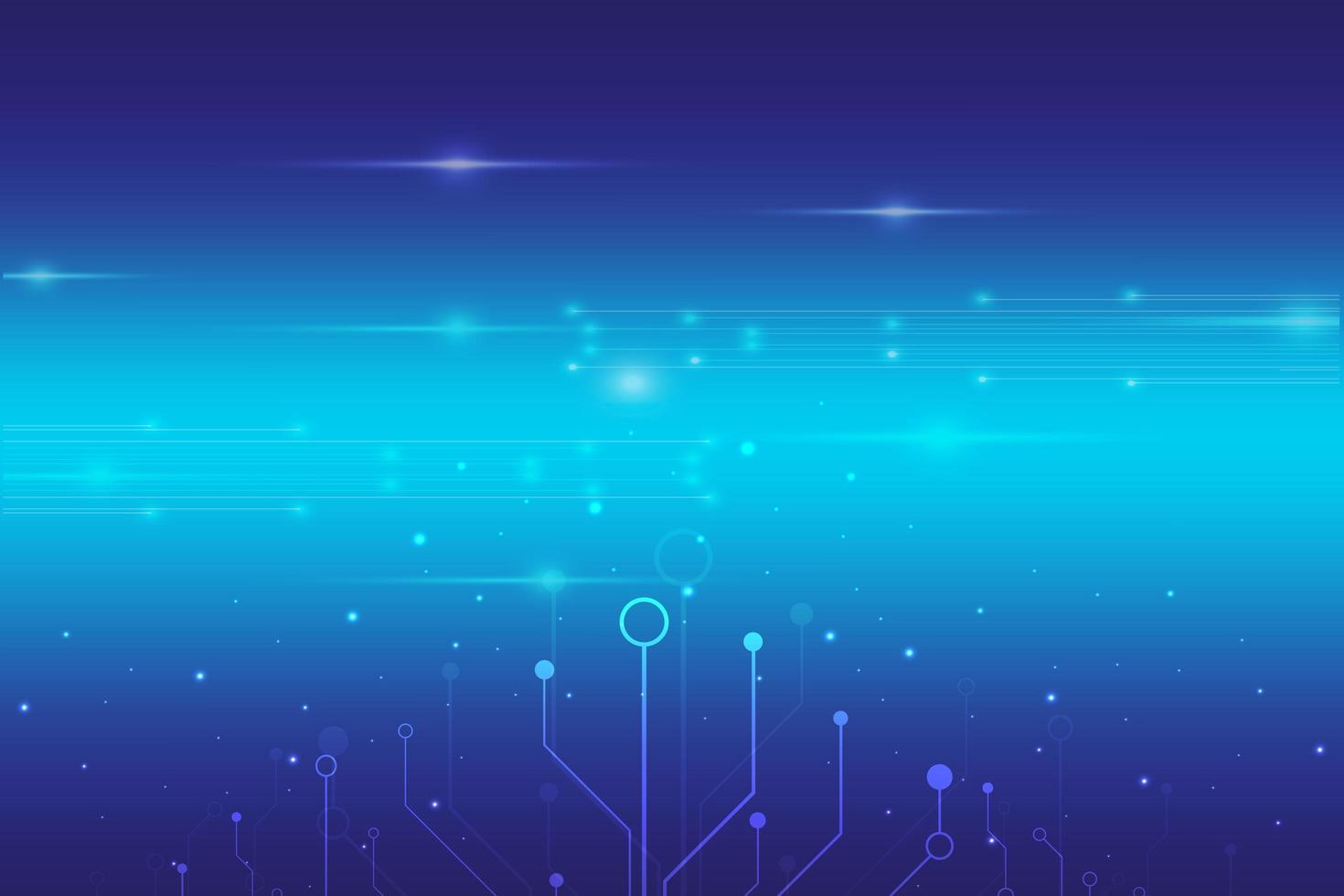 abstracte digitale technologie blauwe achtergrond vector