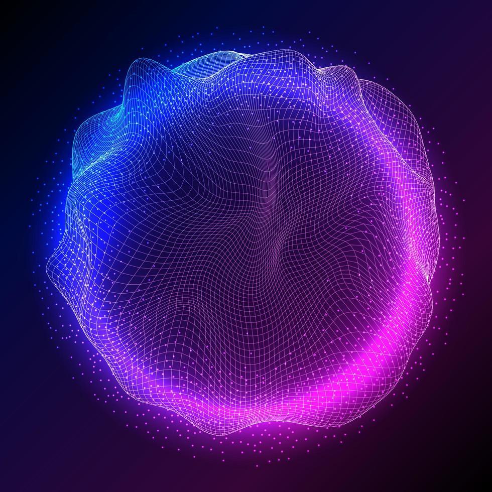 abstract bolontwerp met stromende deeltjes vector