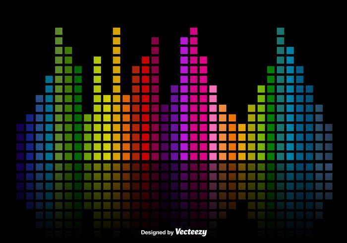 Kleurrijke Muziek Sound Bars Equalizer Vector Achtergrond