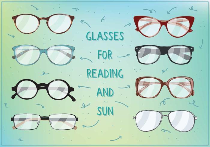 Gratis zon en lezen bril vectot vector