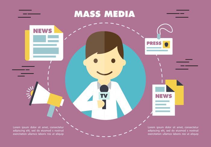 Gratis Journalistiek Pers Vector Backround