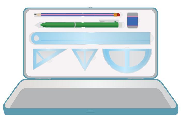 Kantoorbehoeften Pencil Case Vector