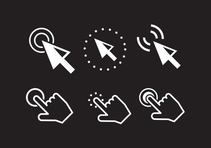 Muis klik op iconen vector