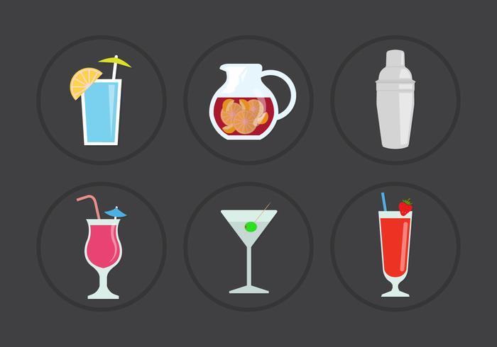 Cocktail Vector Pictogrammen