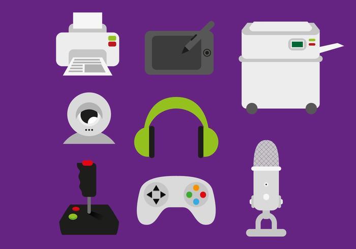 Elektronische Tech Elements Illustratie Vector