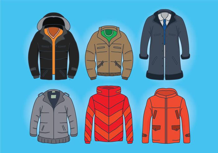 Wintercoatvectoren vector