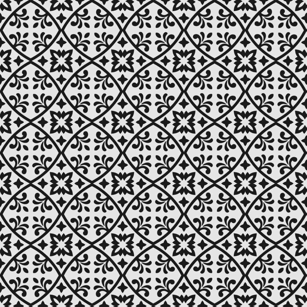 sier cirkelvormig bloemen naadloos patroon vector
