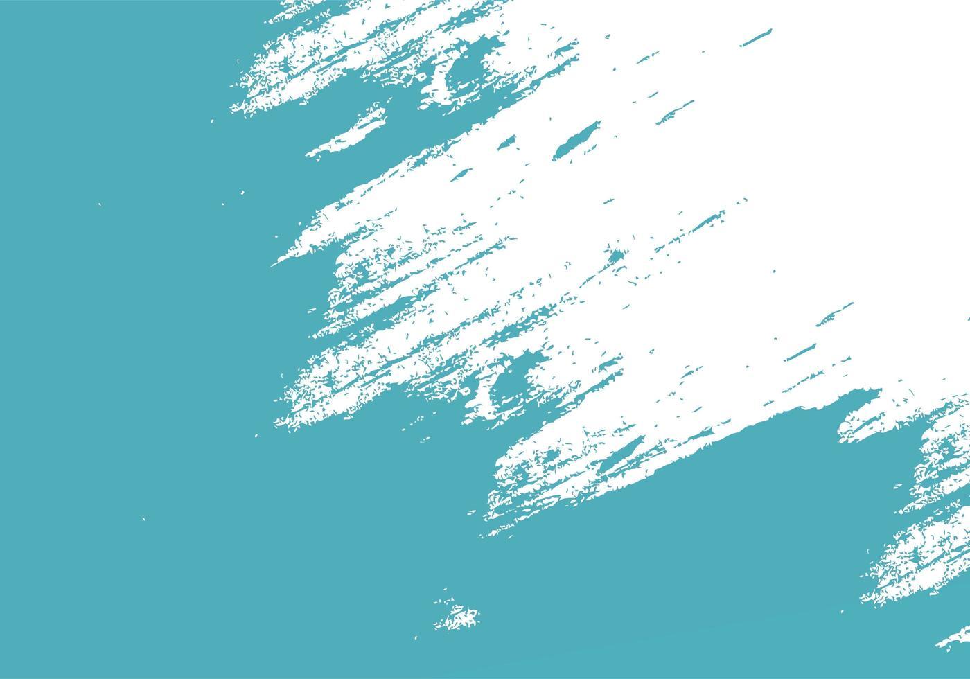 grungy teal inkt penseelstreek textuur vector