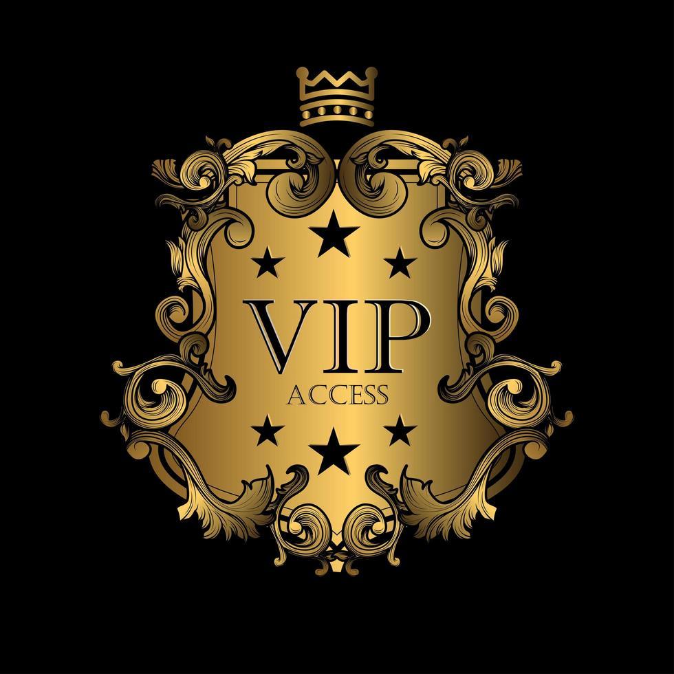 Koninklijke VIP-toegangsbadge vector