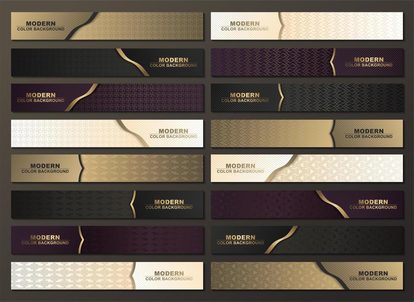 luxe horizontale patroon banner met gouden accenten vector