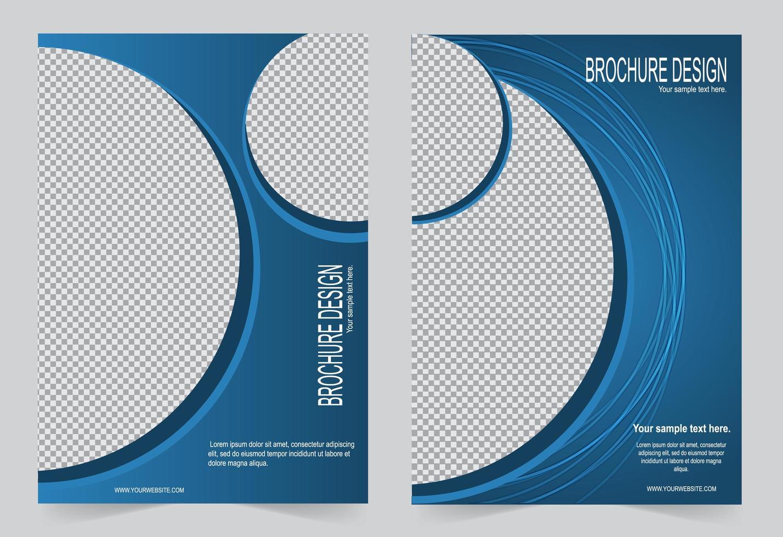 blauwe cirkel brochure cover ontwerpset vector