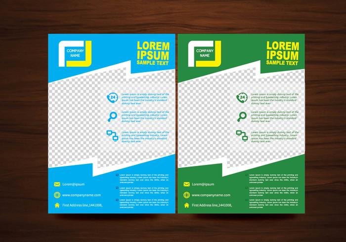 Vector Brochure Flyer Lay-out Sjabloon