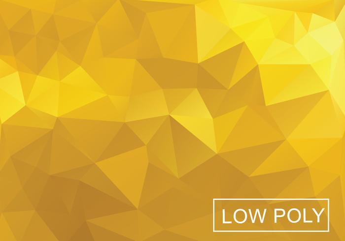 Gele Poly Vector Achtergrond