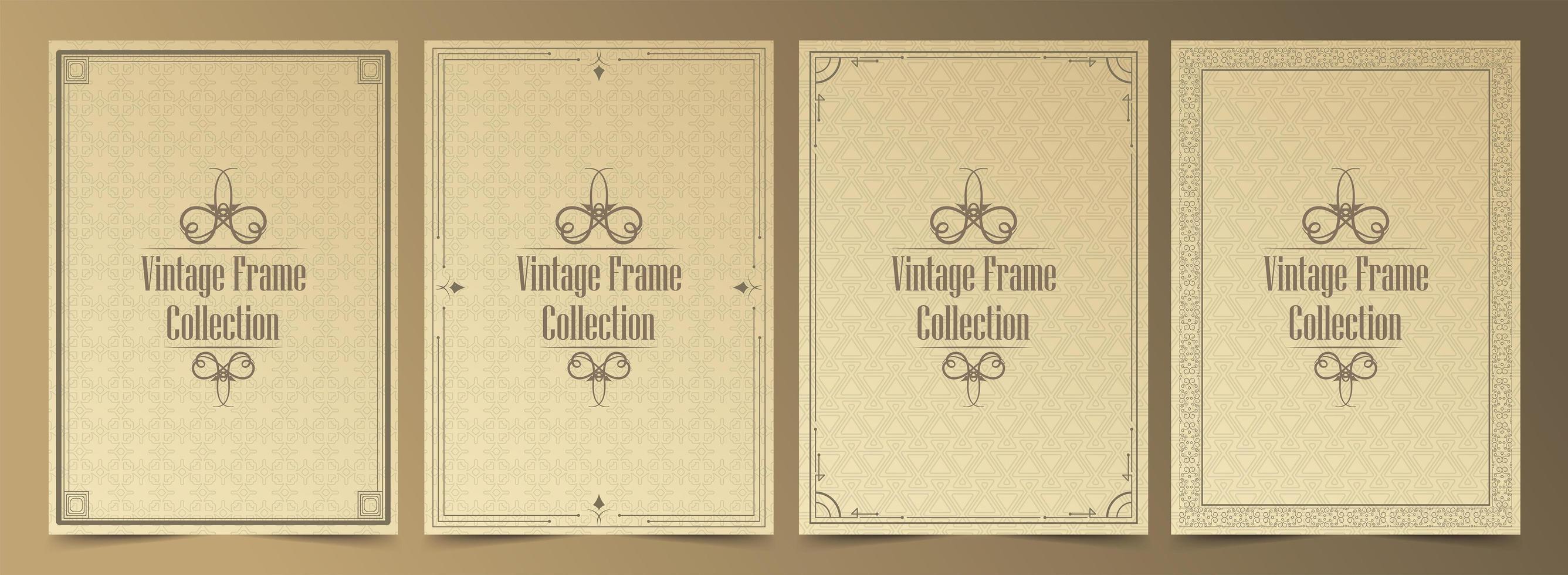 vintage sierframe collectie vector