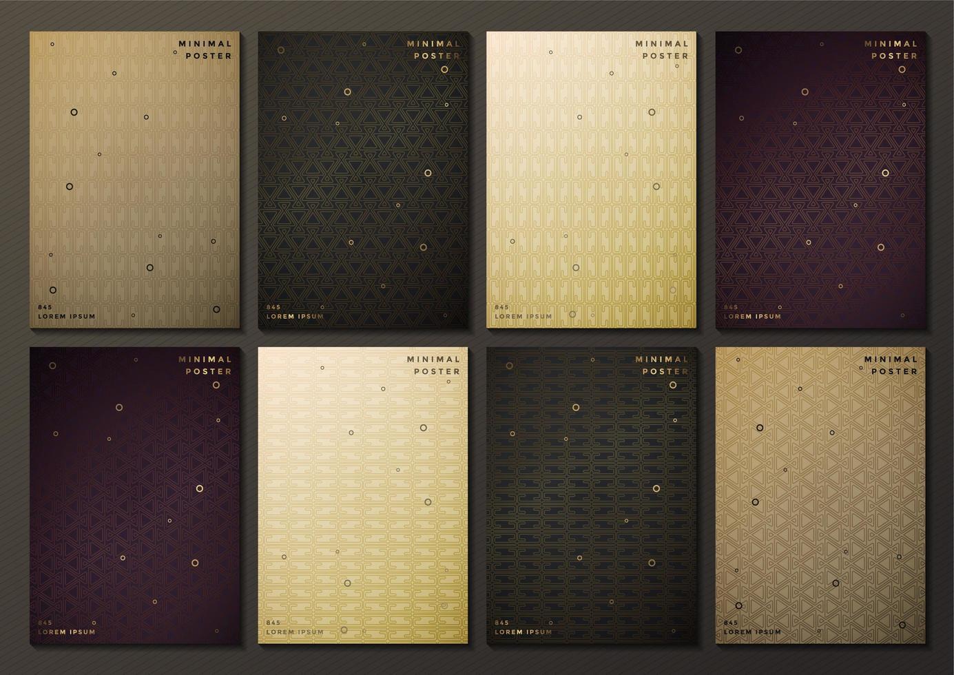 abstract gekleurd patroon ontwerp covers vector